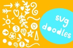 Doodle pop - a cute interchangeable lowercase font duo Product Image 3