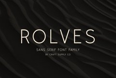Rolves - Sans Serif Font Family Product Image 1