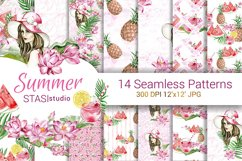 Summer Fashion Paper Pack Digital Seamless Patterns Planner Product Image 1