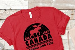 Canada Strong and Free SVG Product Image 3