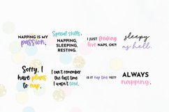 Funny Sleepy Quote SVG Bundle Volume 1 - Colorful Version Product Image 2