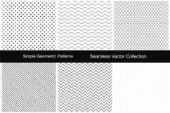 Seamless geometric patterns. Product Image 1