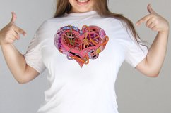 Hearts zentangle Product Image 2