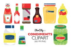 Ketchup and Mustard Clipart for commercial use Product Image 1