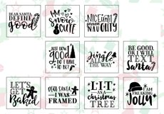 Funny Christmas Phrases SVG Cut File Bundle Product Image 3