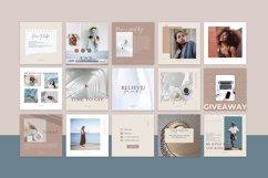 "Canva Instagram Templates ""NUDE"". Social Media Bundle Product Image 3"