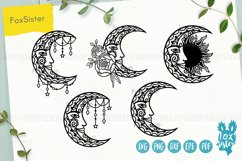Moon mandala svg bundle, Svg Png Pdf Eps Dxf, Moon svg Product Image 1