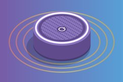 Smart assistant Speaker, Voice control isometric concept. Product Image 1