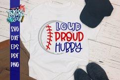 Loud Proud Baseball Softball Hubby SVG Product Image 1