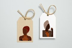 Black Girl Clipart, portrait vector, abstract woman, female Product Image 4