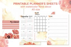 Printable undated planner's sheet A5 Product Image 1