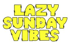 Sunday Monday - A Thick Outline Font Quad Product Image 2
