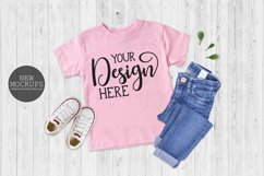 Bundle 11 T-Shirt Toddler Mockup Bella Canvas 3001T Flat Lay Product Image 2