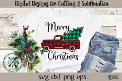 Plaid Christmas Truck SVG Product Image 3