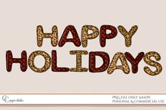 Sublimation design - Happy holidays - Tartan & Cheetah Product Image 1