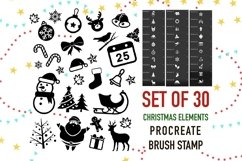 Procreate Brush stamp, Christmas Element Stamps Product Image 1