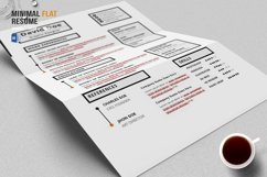 Minimal Flat Resume Template Product Image 5