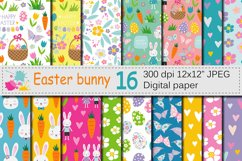 Easter Bunny Digital Paper / Bright Easter Seamless Patterns Product Image 1