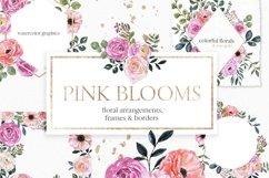 Blush pink floral Frame Frames Borders PNG Rose Gold Clipart Product Image 1