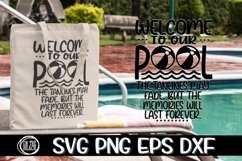 Welcome To Our Pool - SVG PNG EPS DXF Product Image 2