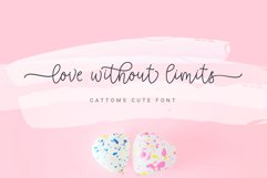 Cattoms Cute Script Fonts Product Image 2