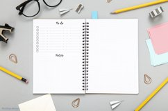 Undated montly and weekly planner's sheets. Simple dotted A5 Product Image 4