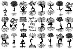 Yoga Tree Silhouettes AI EPS Vector & PNG Product Image 1