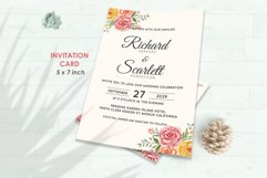 Wedding Invitation Set #3 Watercolor Floral Flower Style Product Image 2
