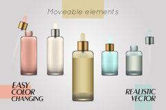 Vector realistic bottles set collection mockup pt.3 Product Image 3