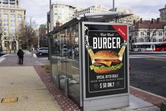 Restaurant Fast Food Bus Stop Banner Product Image 1