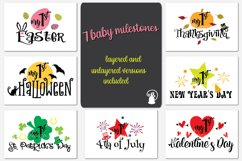 Baby milestone svg bundle, Baby's first USA holidays, my 1st Product Image 1