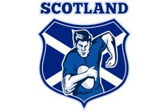 rugby player scotland flag shield Product Image 1