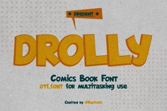 Drolly comics book funny font Product Image 1