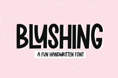 Blushing - A Fun Handwritten Font Product Image 1
