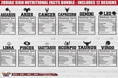 Nutrition facts bundle svg, Zodiac nutritional facts, Png Product Image 1