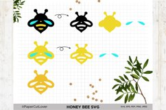 Honey Bee SVG Bumble Bee SVG Bee Cut File Bee Clipart Kids Product Image 3