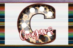 Cougars Leopard Marquee Sublimation PNG Product Image 1