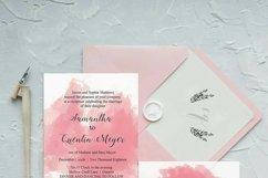 Pink Watercolor Wedding Invite Bundle Product Image 3