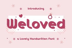 Weloved - Romantic Display Font Product Image 1