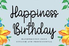 Happiness Birthday | A Handwritten Font Product Image 1
