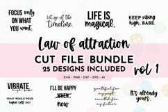 Law Of Attraction Quote SVG Bundle Volume 1 | Manifestation Product Image 1