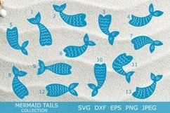 Mermaid tails silhouettes SVG DXF PNG EPS Cutting Files. Product Image 3