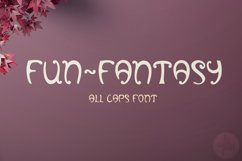 Fun-Fantasy font, Alphabet letters in SVG Product Image 1