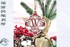 Arabesque Split Alphabet Christmas Ornament SVG Bundle Product Image 2