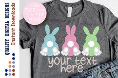 Bunny squad SVG Easter decor digital files Product Image 1