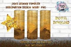 Coffee Swirl   Sublimation Design  20oz Skinny Tumbler Wrap Product Image 1