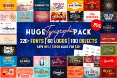 Huge Typographic Pack 60 Logos ! Product Image 1