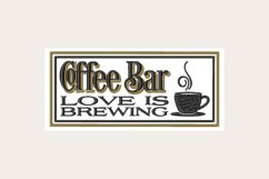Coffee Bar Love Is Brewing - Machine Embroidery Design Product Image 1
