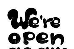 Bright sign We are open again after quarantine, reopening Product Image 4