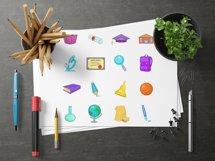 Education icons set, cartoon style Product Image 3